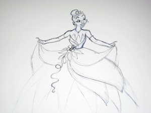 Tiana Wedding Sketch