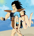 Raditz grabs Maron - dragon-ball-females fan art