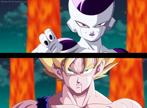 Dragon Ball Z wallpaper possibly containing anime called *Goku v/s Frieza*