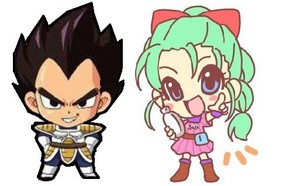 Chibi vegeta and bulma