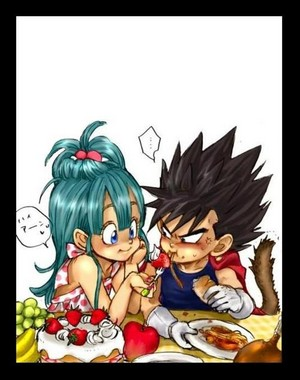 young vegeta and bulma