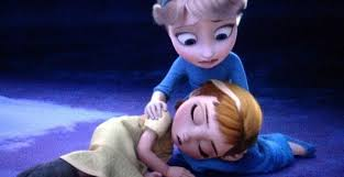 Elsa the Snow क्वीन वॉलपेपर called Elsa and Anna ( when there were a kids)