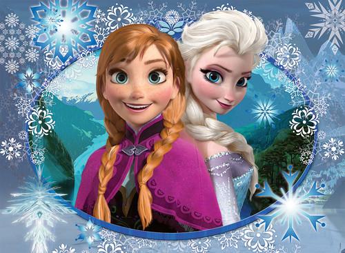 Elsa the Snow क्वीन वॉलपेपर titled Elsa and Anna