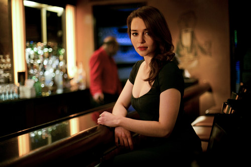 Emilia Clarke پیپر وال possibly with a diner, a brasserie, and a bistro کی, bistro titled Photoshoot