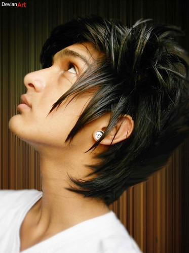 Emo wallpaper containing a portrait called hairstyle for boys- new haircut