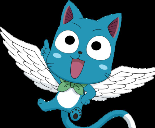 Fairy Tail wallpaper entitled Happy - Natsu's pet cat