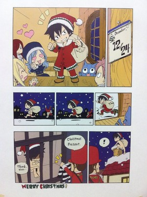 Gray's epic fail as Santa Claus xD