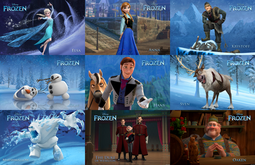Frozen wallpaper entitled All official stills of all characters in Frozen