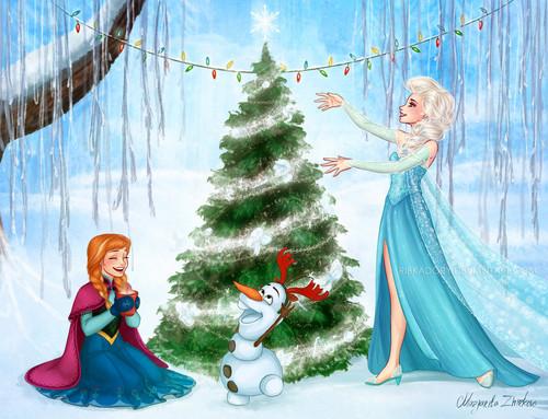 Frozen Wallpaper Entitled Christmas In Arendelle