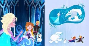 Elsa,Anna,Kristoff and Olaf