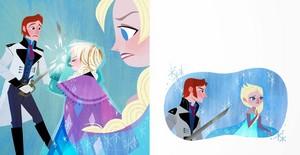 Anna sacrificinf for Elsa