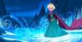 Elsa running away
