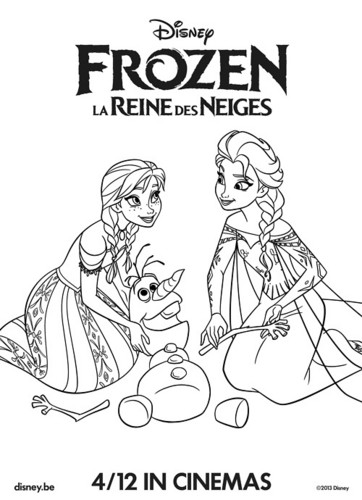 Frozen karatasi la kupamba ukuta containing anime titled Anna and Elsa coloring page