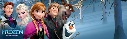 Frozen پیپر وال titled Disney Frozen Banner