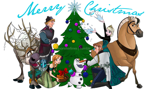 Frozen Wallpaper Containing Anime Titled Merry Christmas