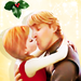 ciuman under the Mistletoe