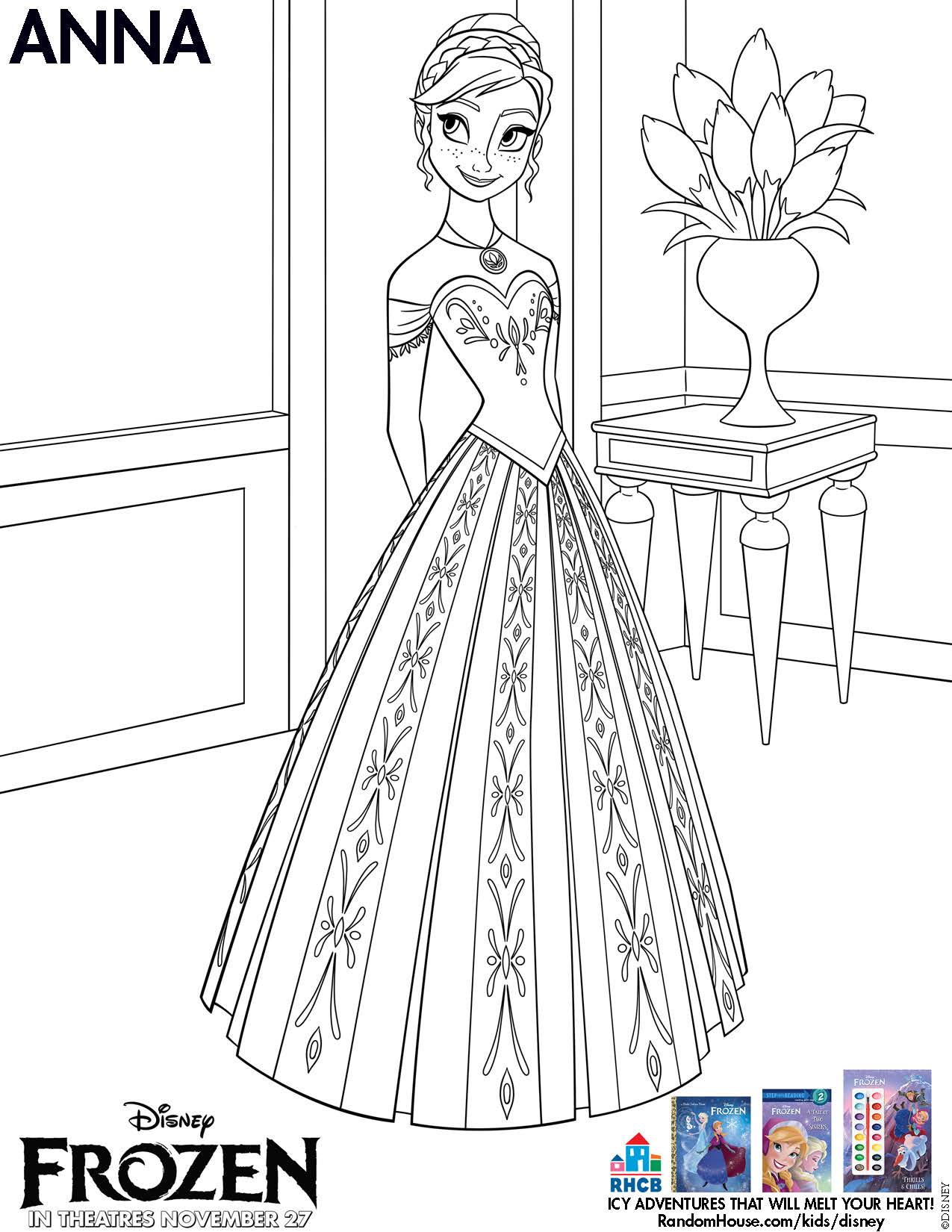 Wonderful Frozenu0027s Anna Images Anna Coloring Page HD Wallpaper And Background Photos Design Ideas
