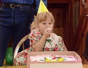 Having some birthday cake