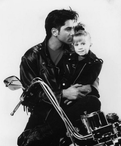 Full House wallpaper called Jesse, Michelle and a motorcycle