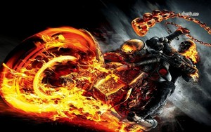 ghost rider in bike