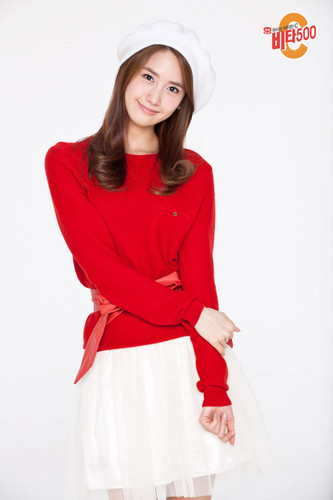 Girls Generation/SNSD wallpaper probably with an overgarment, a shirtwaist, and an outerwear called SNSD Yoona Christmas Photo