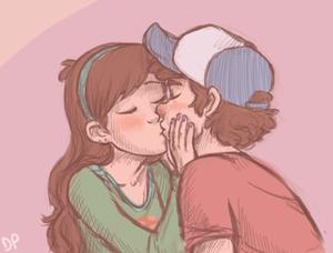 Dipper Mabel baciare