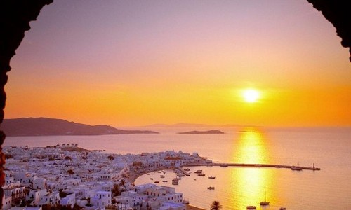 Greece wallpaper with a sunset called Beautiful Greece