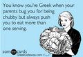 tu know you're Greek...