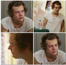Harry Styles wolpeyper containing a portrait titled harry styles crying
