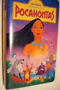 """1995 디즈니 Cartoon, """"Pocahontas"""", On 비디오 카세트"""