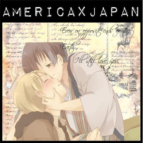 Hetalia Couples! karatasi la kupamba ukuta with anime titled Ameripan ♥