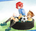 Mark & Xavier - inazuma-eleven photo