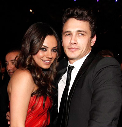 Photo of Mila Kunis & her friend  James Franco