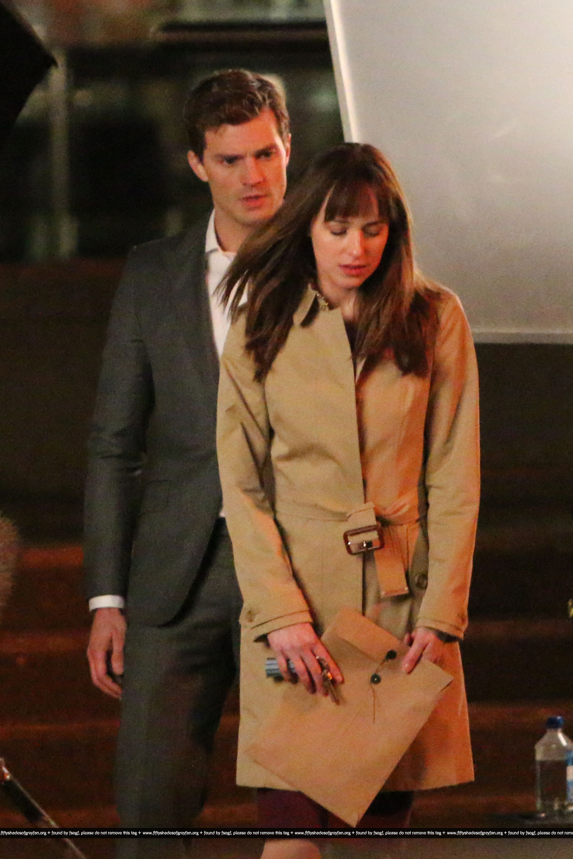 On set december 8th jamie dornan dakota johnson photo for Movie the fifty shades of grey