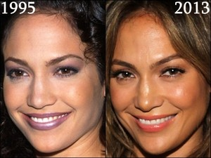jlo jennifer lopez then and now, before and after - 1995, 2013
