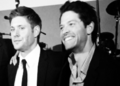 Misha and Jensen - SPN 100th Episode Party - jensen-ackles-and-misha-collins photo