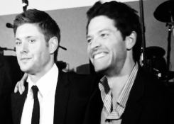 Misha and Jensen - SPN 100th Episode Party