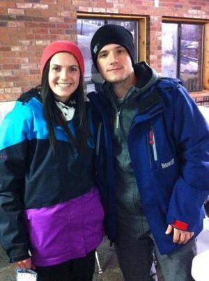 Josh snowboarding at Perfect North today (12.26.13)