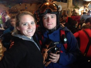 Josh w/ a Фан in West Virginia today, (01.02.14)