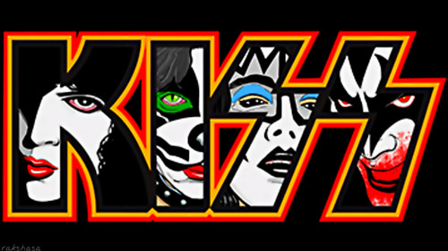 KISS wallpaper probably containing anime titled KISS...Paul, Peter, Ace and Gene