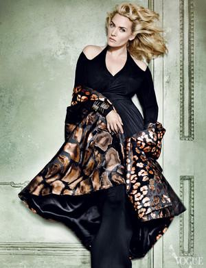 Kate Winslet for Mario Testino Photoshoot (Vogue)