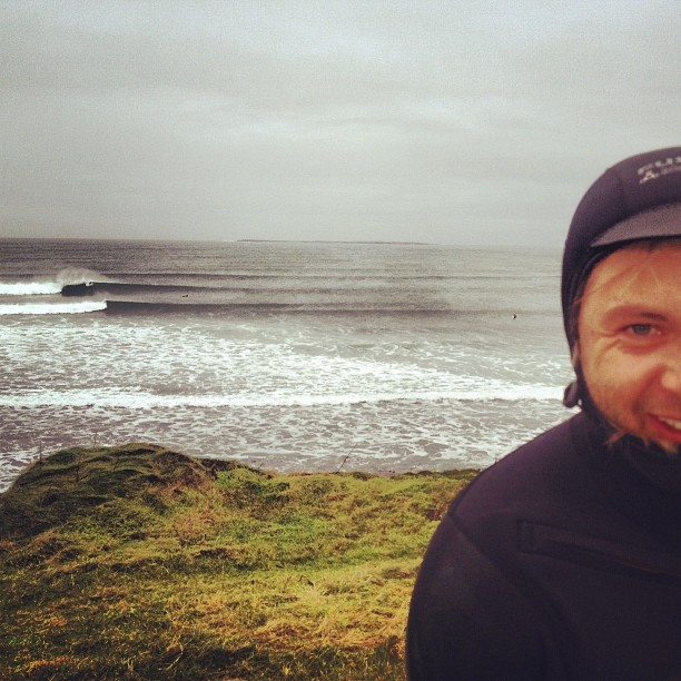 Big long hollow lefts... Its good to be back in IRELAND!!!