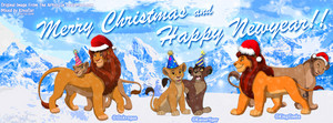 Lion King natal New ano facebook cover banner