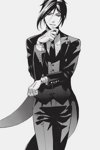 Kuroshitsuji wallpaper probably containing a well dressed person and an outerwear titled Sebastian Michaelis