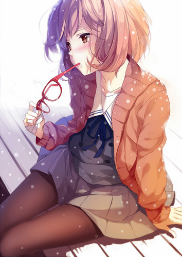 Kyoukai no Kanata wallpaper probably with anime titled Mirai Kuriyama