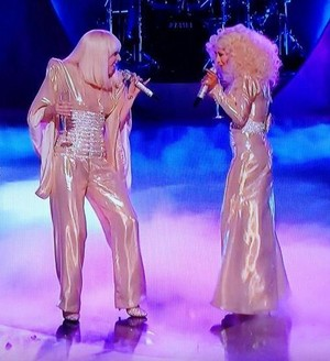 Lady GaGa And Christina Aguilera Duet