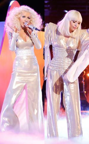 Lady GaGa And Christina Aguilera Duet