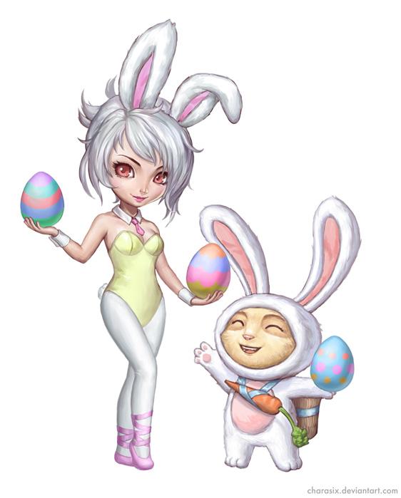 Riven x Teemo Bunny Riven Fan Art