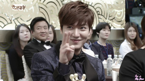Lee Min Ho at the SBS Drama Awards