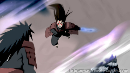 Madara Uchiha wallpaper called *Madara v/s Hashirama*